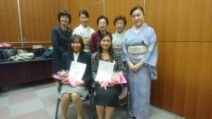 受賞の留学生
