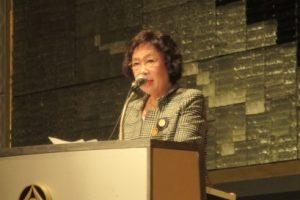 石本陽子ガバナー「クラブの健全化・会員の意識向上―楽しく充実したクラブであるために―」