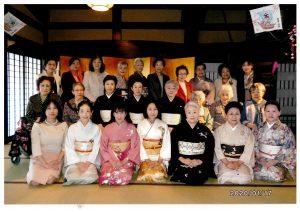 福原洋子先生と長唄三味線奏者 杵屋響泉先生のご一門とともに
