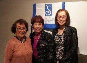 清水千恵子新入会員、会長、メンバーシップ委員長と