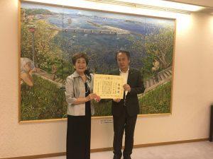 SI横須賀小川会長に横須賀市より感謝状を頂きました。